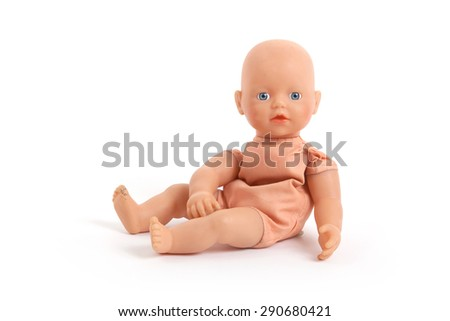 Baby toy (no trademark), isolated on white - stock photo