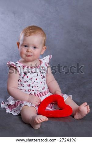 baby valentine - stock photo