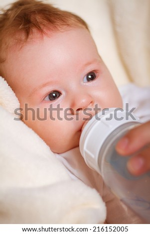 baby with a bottle