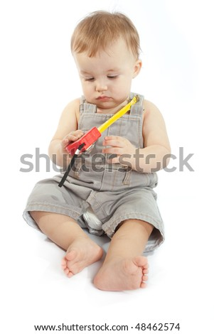 Baby with a measuring tape