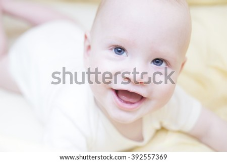 Baby with close-up smile