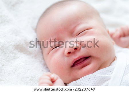 Baby yell - stock photo