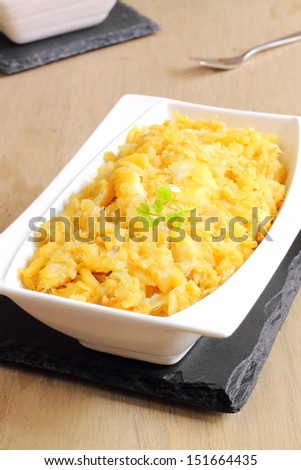 ... Portuguese recipe of salt cod with scrambled eggs and fried potatoes