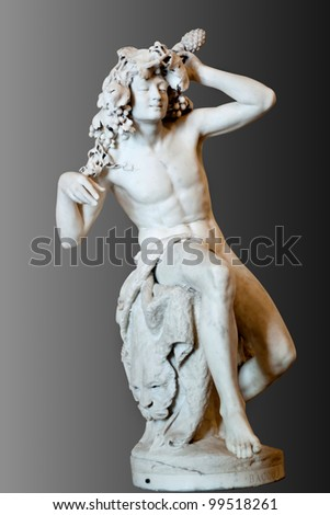 Bacchus (Dionysus) marble statue at Hermitage, st. Petersburg in Russia - stock photo