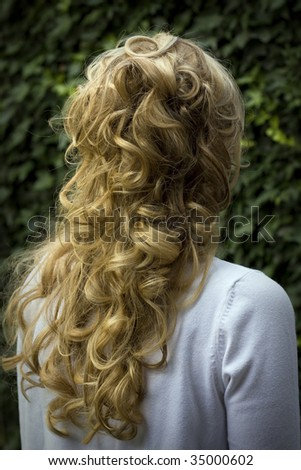 bach of the head of a woman - stock photo