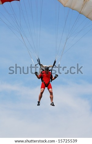 Bachmann Andre of Switzerland participates in FAI - World parachuting championship, 26 july- 2 august, 2008 in Lucenec - Bolkovce, Slovakia