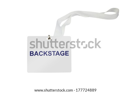 Bachstage pass isolated on white background - stock photo
