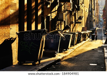 Back Alley - stock photo