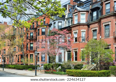 Back Bay Boston Apartments Stock Photo 224634127 ...