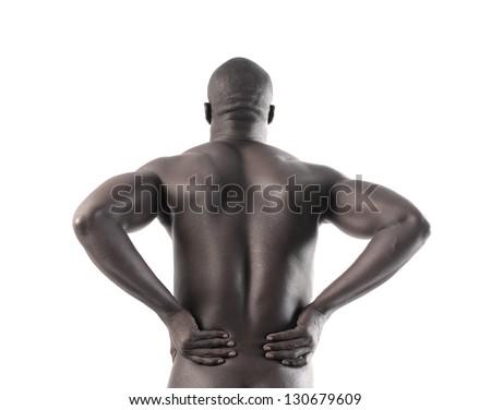 back black man - stock photo