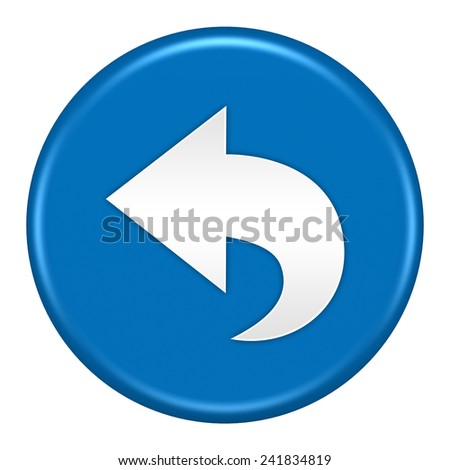 back button isolated - stock photo