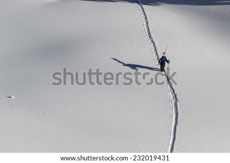 back country skiing  - stock photo