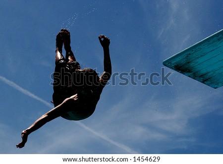 Back Dive - stock photo