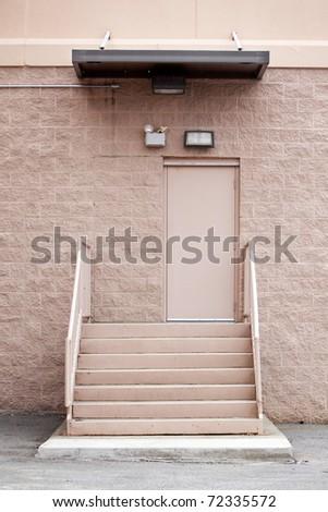 back door to retail store - stock photo