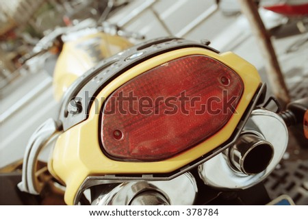back-end of motorcycle - stock photo