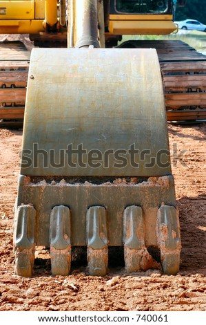 Back Hoe bucket - stock photo