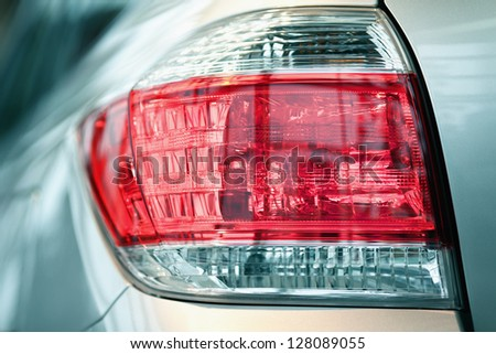 Back light of automobile - stock photo