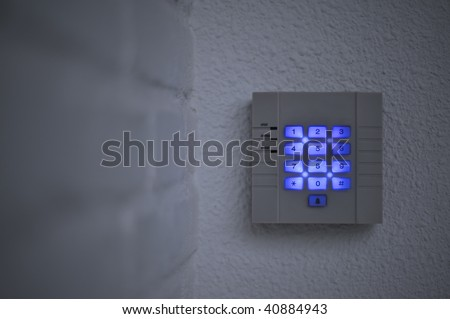 Back-lit security keypad - stock photo