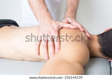 Back massage - stock photo