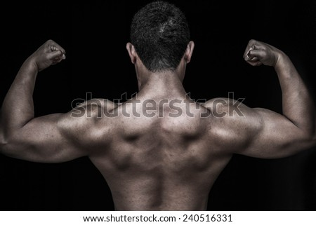 back muscle - stock photo