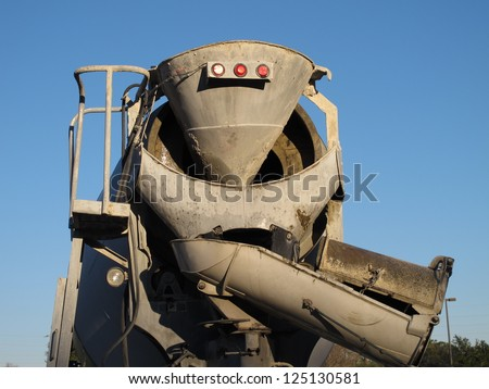 Back of a cement truck, Sugar Land, Texas