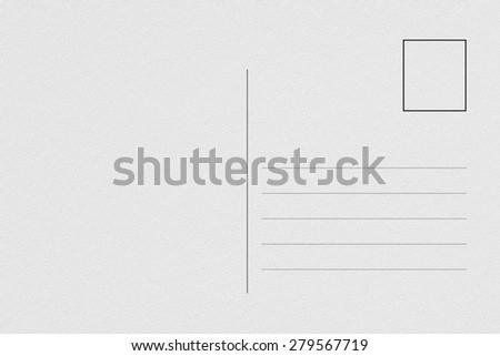 Back of blank postcard - stock photo