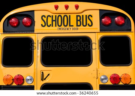 Back of bus - stock photo
