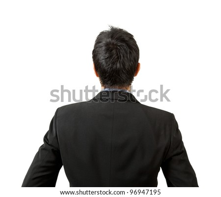 back of businessman looking - stock photo