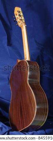 back of handmade classical guitar - stock photo