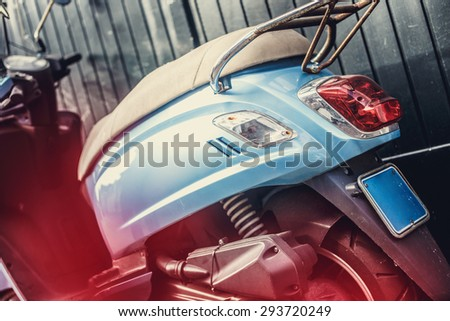 Back of street scooter. - stock photo