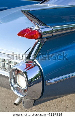 Back of Vintage Car - stock photo