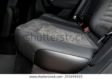 Back passenger seats in modern car. Interior detail. - stock photo