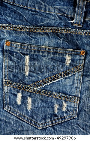 Jeans Back Pocket Texture back pocket jeans  blue denim