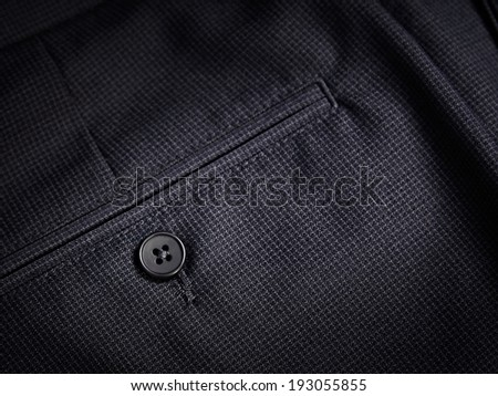 Back pocket of trousers
