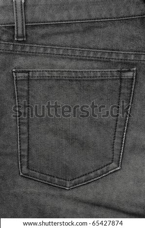 Back pocket on jeans - stock photo