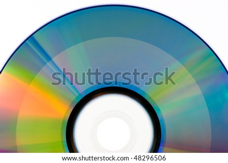 back side dvd ,written - stock photo