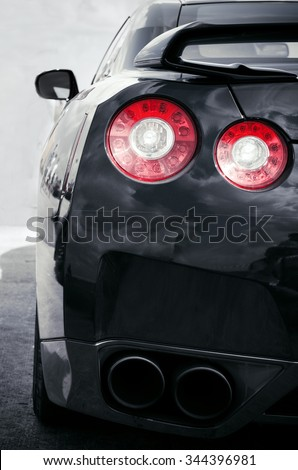 Back sports car Lights - stock photo