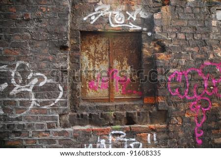 Back Street Graffiti Grunge - stock photo