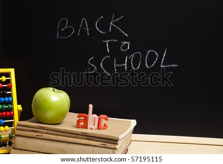 Back to school,abc,apple concept