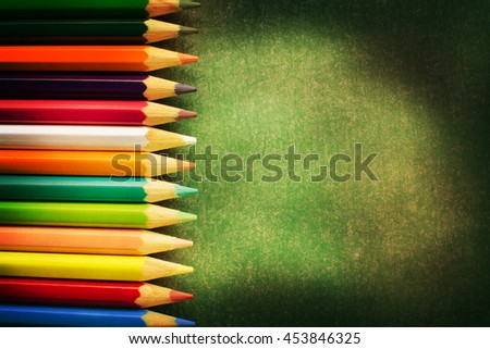 Back to school background - stock photo