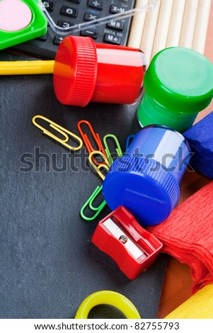 Back to school, background with blackboard. - stock photo