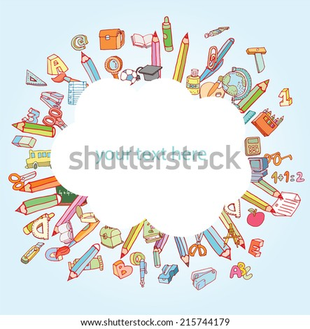 Back to school,  Banners or Bookmarks, illustration.