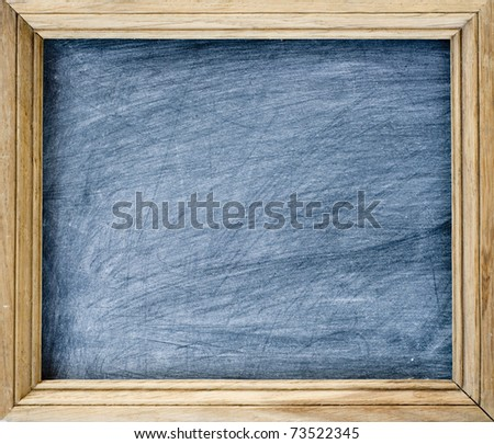 Back to school - blackboard  with space for text - stock photo