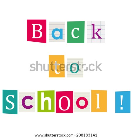 Back to school ! Books letters.  - stock photo