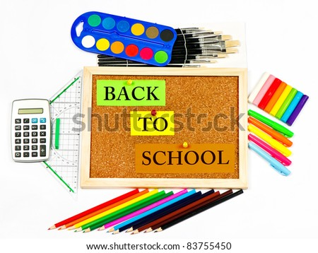 back to school. colorful background - stock photo