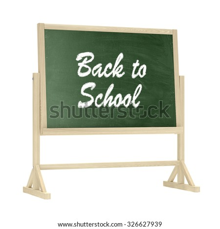 Back to School concept. Blackboard, chalkboard isolated on white