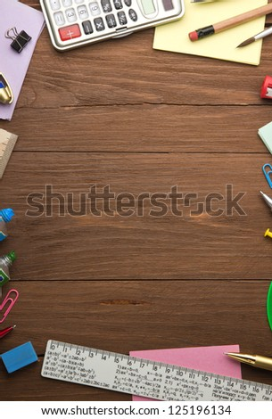 back to school concept on wood background