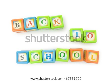 Back to school concept with alphabet blocks - stock photo