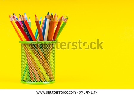 Back to school concept with colourful pencils