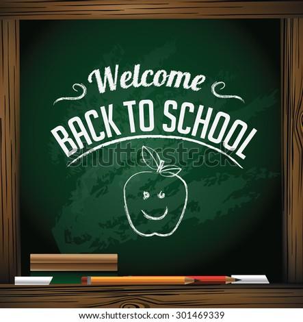 Back to School design Illustration for greeting card, ad, promotion, poster, flier, blog, article, social media, marketing - stock photo